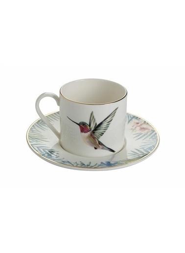 Porland Porland Exotic Tabaklı Çay Fincanı Renkli